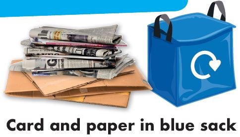 image of blue recycling sack
